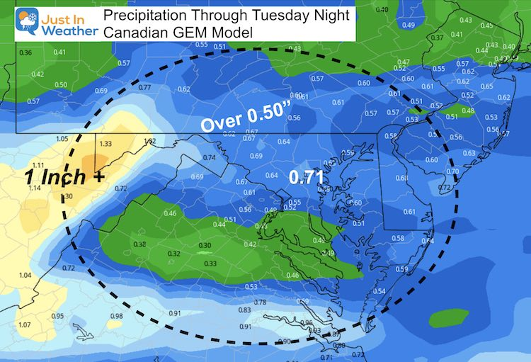 January 22 weather snow ice rain storm total Canadian