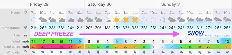 January 28 weather forecast central Maryland