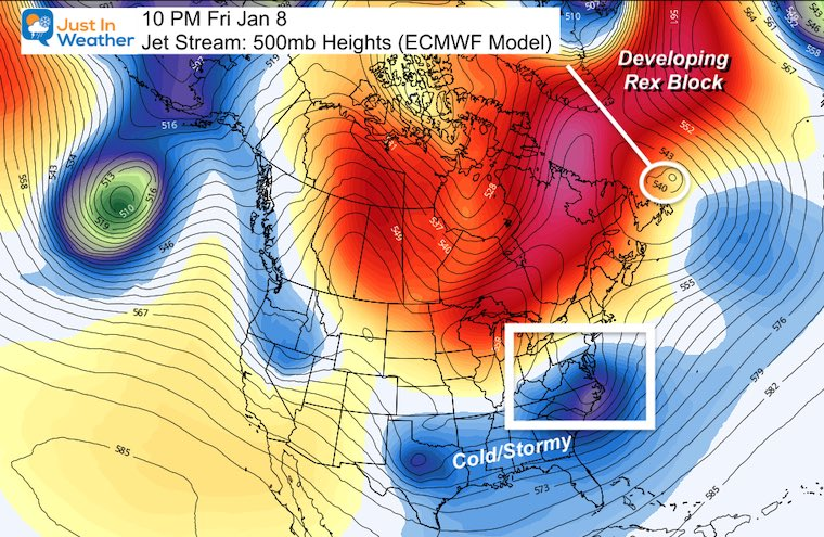 January 3 Block Friday Greenland jet stream