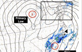 January 31 Sunday Evening Storm Surface Analysis