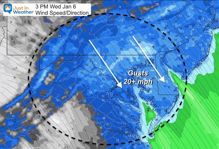 January 6 weather winds Wednesday