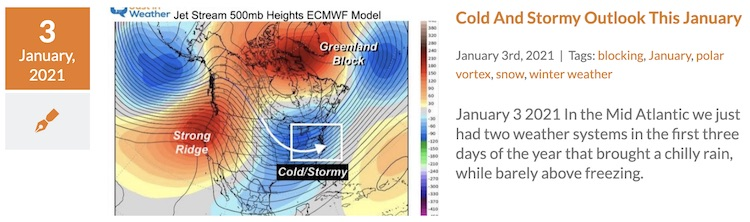 January Outlook Cold Stormy