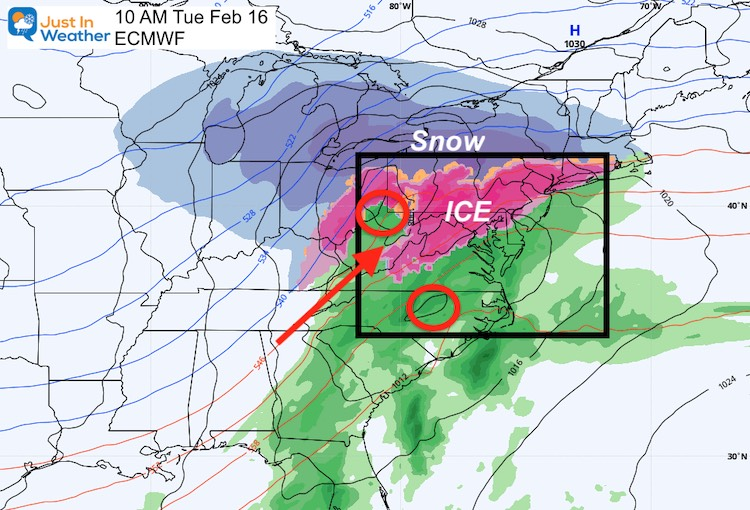 February 12 weather Tuesday ice storm