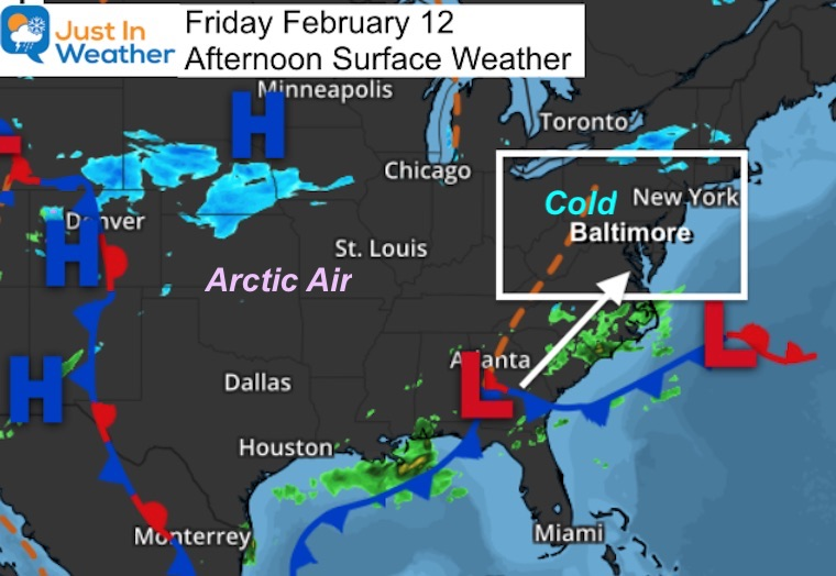 February 12 weather storm Friday afternoon