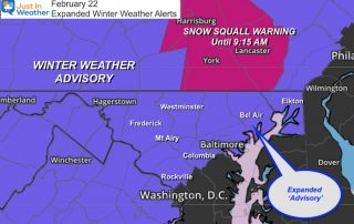 February 22 Expanded Winter Weather Advisory