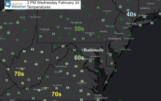 February 24 weather temperatures 3 PM