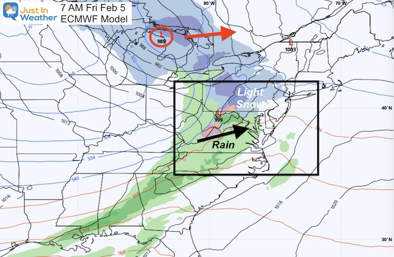 February 3 weather snow Friday