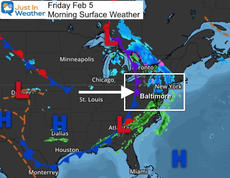 February 5 weather Friday morning NEW