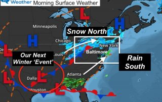 February 9 weather morning surface map