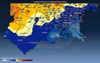 Snow February 2 Report Map Maryland Virginia