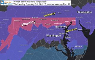 Winter Storm Warning Maryland February 10