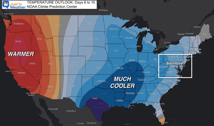 April 12 weather temperature outlook Day 6 to 10