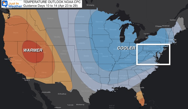 April 16 weather NOAA temperature outlook Day 14