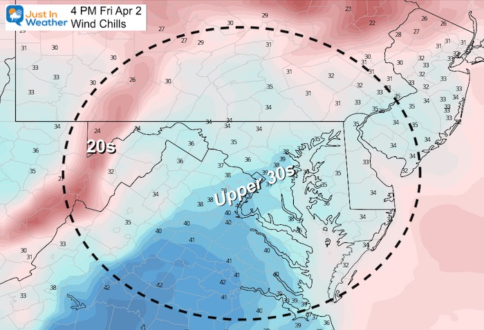 April 2 weather Friday wind chill
