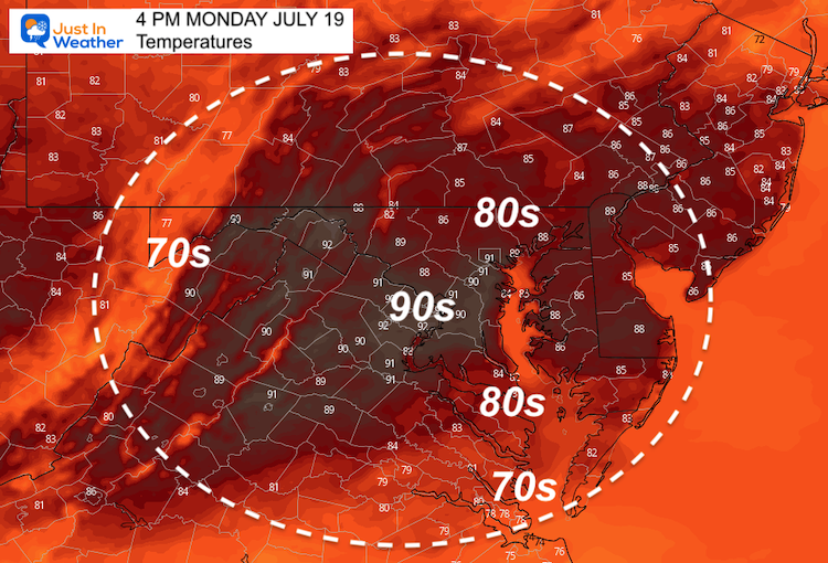 July_19_weather_temperatures_Monday_afternoon