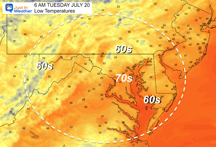 July_19_weather_temperatures_Tuesday_morning