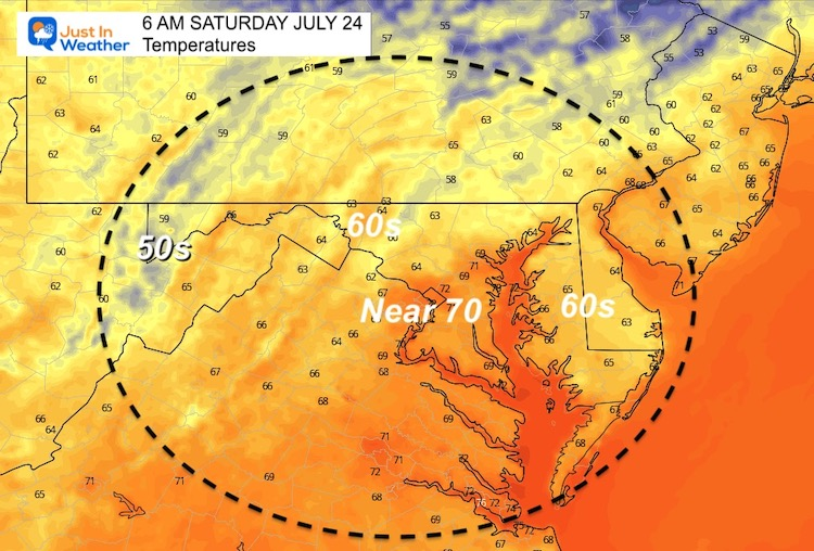 July_23_weather_temperatures_Saturday_morning