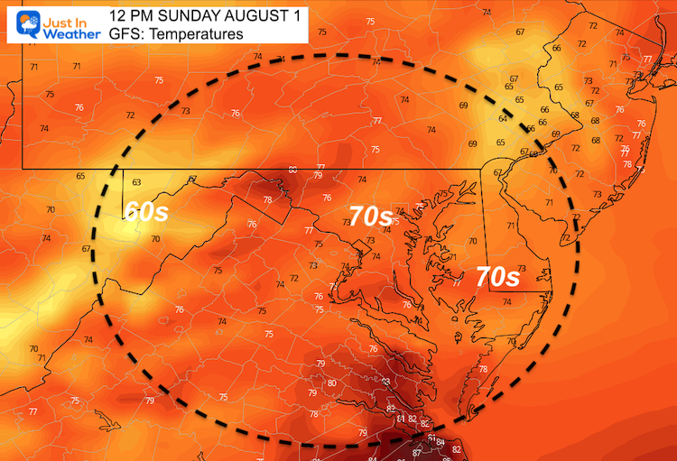 August_1_weather_temperatues_Sunday_GFS