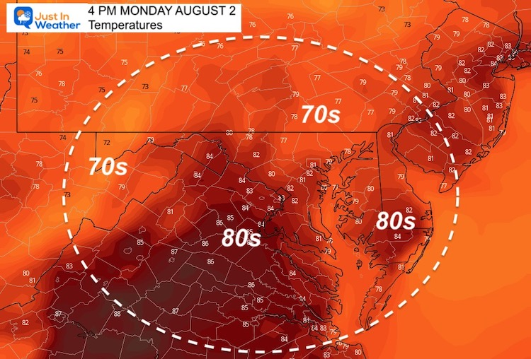 August_2_weather_temperatures_Monday_afternoon