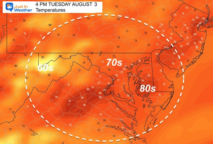 August_2_weather_temperatures_Tuesday_afternoon