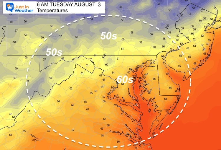 August_2_weather_temperatures_Tuesday_morning