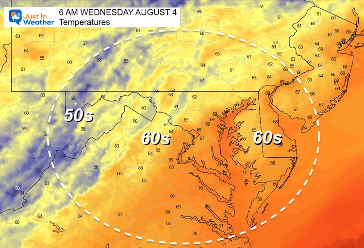 August_3_weather_temperatures_Wednesday_morning